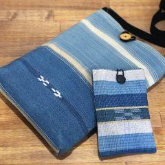手織りのミンサーバッグ